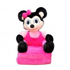 Detské rozkladacie kresielko 2v1 - Minnie Ružová