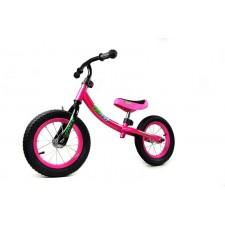 Detský bicykel bez pedálov ružový