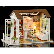 DIY drevený domček pre bábiky – 8008-A