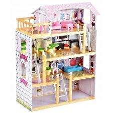 Drevený domček pre bábiky Malatec - 80cm