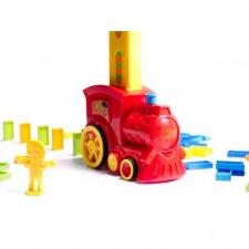 Domino lokomotíva + 80ks doštičiek - červená