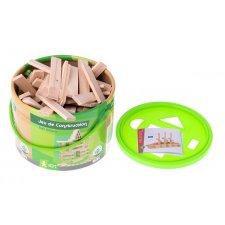 Drevené kocky Montessori – 100ks