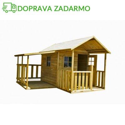 Drevený záhradný domček pre deti BLANKA s garážou