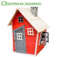 Drevený záhradný domček pre deti OLEK - maľovaný