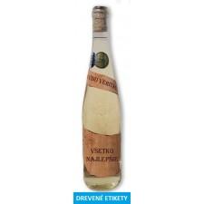 Etiketa z dreva Všetko najlepšie - Víno s 23 karat. zlatom 0,75 l