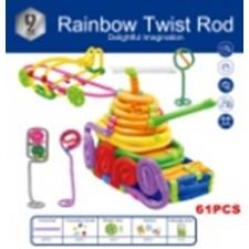 Farebné ohýbacie drôtiky Rainbow Twist Rod 61 dielikov