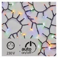 LED vianočná reťaz – strapec, vonkajšia, 4m, multicolor,čas.