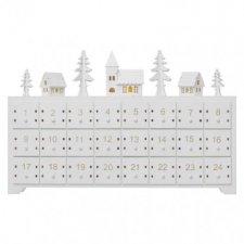 LED adventný kalendár, 37×23cm, 2× AA, vnútorný, teplá biela