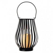 LED dekorácia – lampáš zvislá mriežka, 3× AAA, blik.,t.b.
