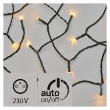 LED vianočná reťaz, 18m, jantarová, časovač