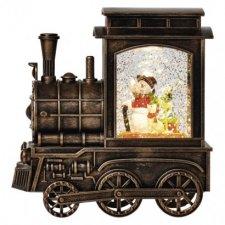 LED vianočná lokomotíva 17x16cm, 3x AA, vnútorná, teplá b.