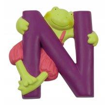 Písmeno N fialové