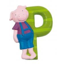 Písmeno P zelené s prasiatkom