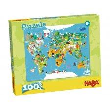 Puzzle Mapa sveta 100ks