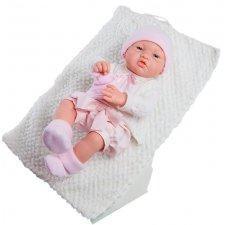 Bábätko 36 cm v ružovom s dečkou