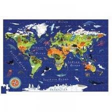 Puzzle s plagátom Svet 200 ks