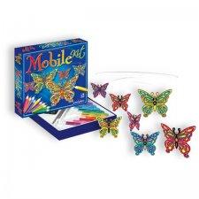 Závesný kolotoč vitrážne motýle