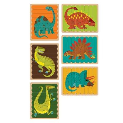 Obojstranné puzzle Dinosaurus 6x