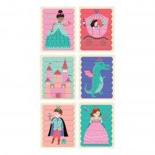 Obojstranné puzzle Princezná 6x