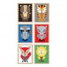 Obojstranné puzzle Zvieratá 6x
