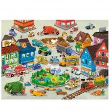 Puzzle Rušné mesto floor 50ks