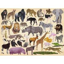 Puzzle Divé zvieratá 300ks