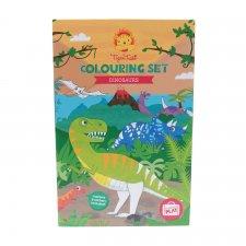 Set s omaľovánkou Dinosaury