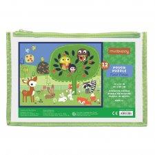 Puzzle Lesné zvieratá 12ks vo vrecku