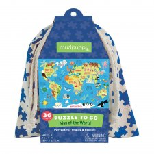 Puzzle Mapa sveta 36ks vo vaku