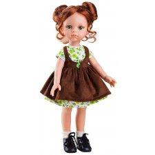 Bábika Cristi v hnedých šatách 32cm