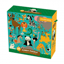 Puzzle jumbo Safari zvieratká 25 ks