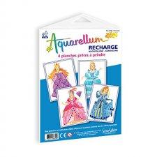 Aquarellum obrázky Princezné