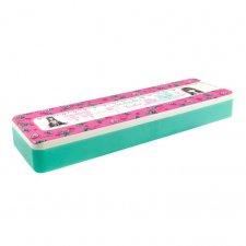 Gorjuss krabička na ceruzky s pravítkom Resebud