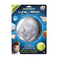 Mesiac nálepka svietiaca v tme