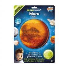 Mars nálepka svietiaca v tme