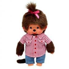Mončiči Dievča v kockovanej košeli 20cm