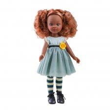 Bábika Nora 32 cm v modrých šatách