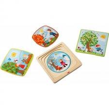 Drevené puzzle Ročné obdobia