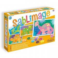 Sablimage - pieskové obrázky Dinosaury