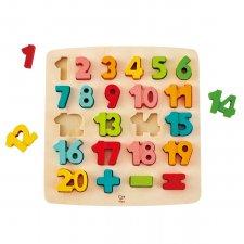 Vkladacie puzzle Čísla pastelové