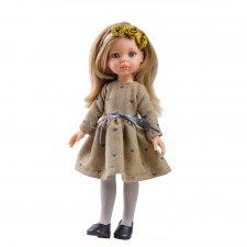 Bábika Carol v hnedých šatách 32cm