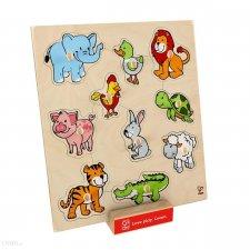 Vkladacie puzzle Zvieratká