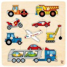 Vkladacie puzzle s úchytkami Dopravné prostriedky