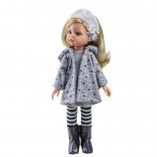 Bábika Claudia v sivom 32cm