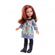 Oblečenie pre bábiku mačičkové šaty 32cm