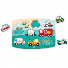 Vkladacie puzzle Záchranárske autá