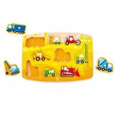 Vkladacie puzzle Stavebné autá