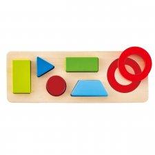 Vkladacie puzzle obojstranné Geometria