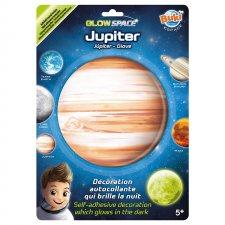 Jupiter nálepka svietiaca v tme