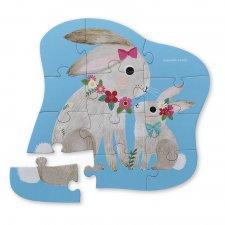 Puzzle mini Zajačik 12ks